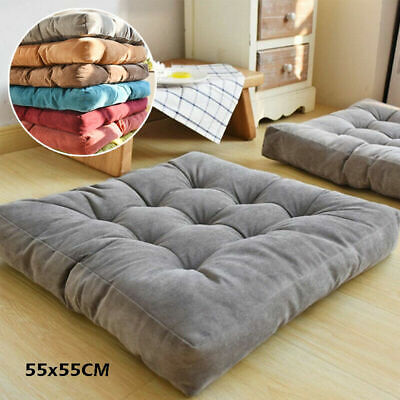£18.99 • Buy Large Square Corduroy Sofa Cushion Seat Soft Floor Garden Dining Thick Chair Mat