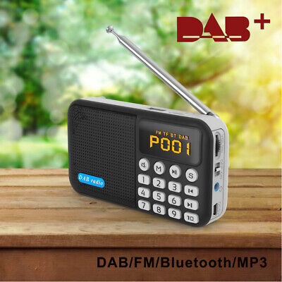 Portable FM DAB DAB+ Digital Radio Bluetooth Speaker MP3 Rechargeable Battery • 18.45£