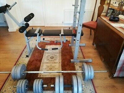 York Fitness Bench With Weights • 107£