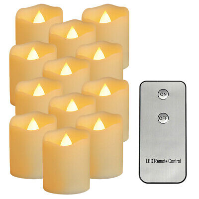 12pcs LED Electronic Candles Simulation Flame Light With Remote Control (B) UK • 13.32£