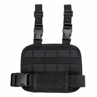 Drop Leg MOLLE Platform Thigh Magazine Mag Pouch Holster Rig Panel (Black) UK • 7.74£