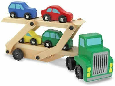 £8.75 • Buy Melissa & Doug CAR TRANSPORTER Baby/Toddler Wooden Toy Vehicle/Truck/Lorry BN
