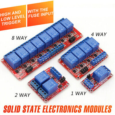 AU9.68 • Buy 5V Or 12V 1-2-4-8 Channel Relay High Low Level Optocoupler Module For Arduino PI