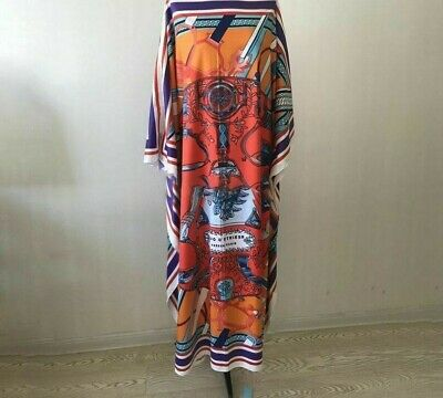 $23.53 • Buy Bohemian Styles Robe Dress And New Spring Fashion Women Print Batwing Silky Wild