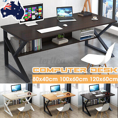 AU124.59 • Buy 🔥 Computer Desk Study Home Office Table Student White Metal Workstation Storage