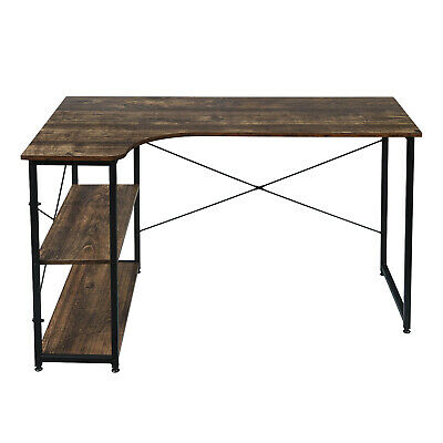 £54.39 • Buy PC Computer Desk Writing Study Table Office Home Workstation Dark Wooden Metal