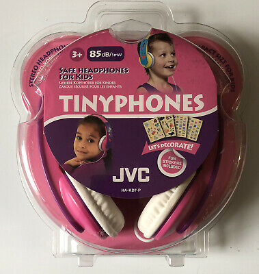 JVC Tinyphones Safe Headphones For Kids 85dB/1mW In Pink & Purple Age 3+ *NEW* • 24.99£
