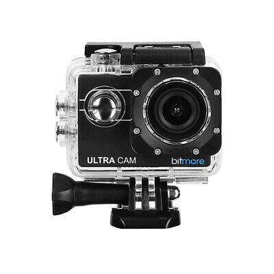 Bitmore 4K HD UltraCam Waterproof Action Camera With Accessories + 8GB MicroSD • 22.99£