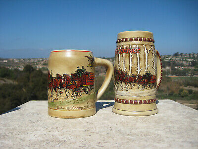 $ CDN163.33 • Buy Budweiser  Holiday Steins Cs19 1980 Cs50 1981 First & Second In Series Ceramarte