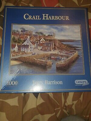 Gibsons 1000 Piece Jigsaw Puzzles Crail Harbour By Terry Harrison  • 9.99£