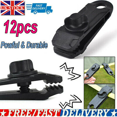 Tent Tarpaulin Clamps Tarp Clips Nylon Tighten Lock Grip For Outdoor Activities • 8.37£