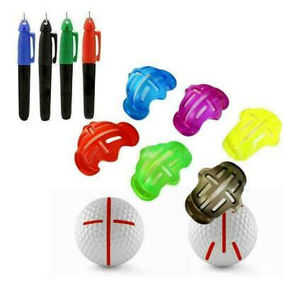 Golf Ball Stencil Template Drawing Putting Line Marker With Marker Pen • 3.54£