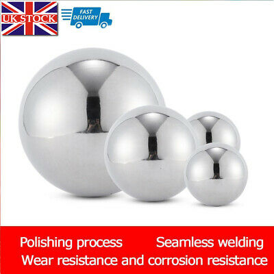 Large Stainless Steel Mirror Sphere Hollow Ball Home Garden Ornament Decoration • 7.15£