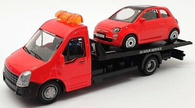 Burago 1/43 Scale #18 31400 - Fiat 500 Car And Generic Flatbed Truck • 19.99£
