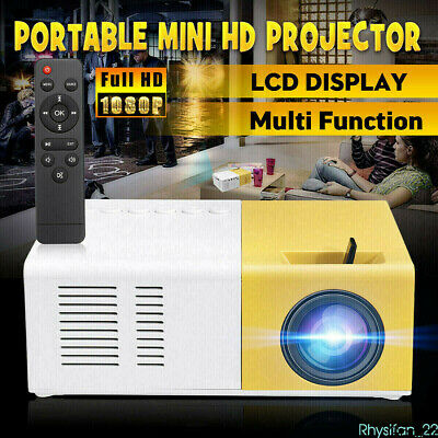 YG300 Pro Portable Mini LED Projector 4K HD 1080P Home Cinema Movie HDMI AV USB • 27.99£