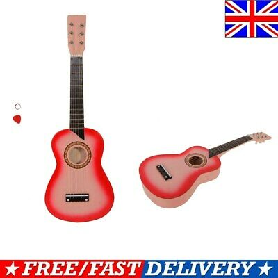 25''childrens Kids Wooden Acoustic Guitar Musical Instrument Child Toy Xmas Gift • 20.79£