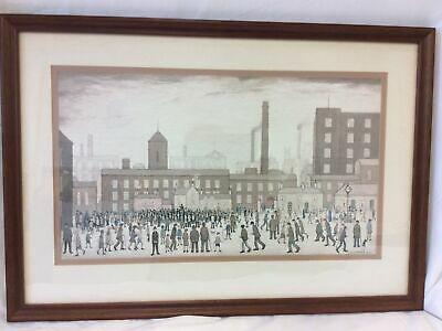 L.S.Lowry Framed Print Titled 'Outside The Mills' • 4.99£