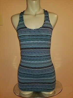 $ CDN25 • Buy Lululemon Cool Racerback CRB Space Dye Twist Naval Blue Peacock Blue Size 6 EUC