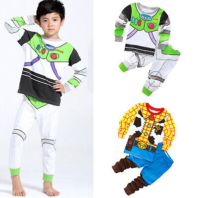 £7.40 • Buy Kids Boys Toy Story Buzz Lightyear Woody Pajamas Set Cosplay Costume Outfits New