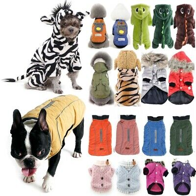 Pet Puppy Dog Jumper Hoodie Apparel Winter Warm Rainbow Coat Clothes Costume UK • 8.59£