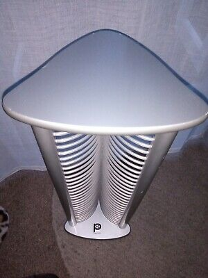 Play Stor Dvd CD Silver Storage Rack • 3£