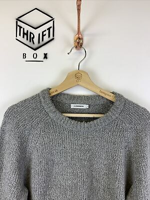 J.LINDEBERG, Mens Size S, Grey, Fluffy Knit, Crew Neck Jumper,*VGC* • 22.99£
