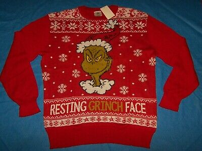 $29.99 • Buy Size 2XL Mens Ugly Christmas Sweater Dr. Seuss The Grinch Who Stole Christmas