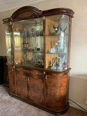 Dining Room Or Lounge Italian Glass Display Cabinet With Draw, Cupboards Below  • 899£