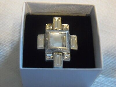 $ CDN12.10 • Buy Lia Sophia Silver With Clear Stones Ring  Undercover  Size 6 NEW