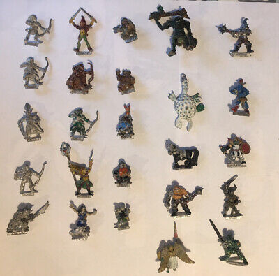 Warhammer / Citadel Metal Miniatures Circa 80s Elves, Dwarves, Monsters, Chaos • 24£