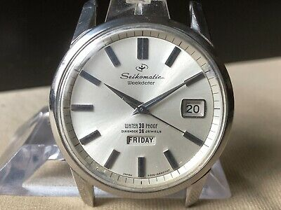 $ CDN186.55 • Buy Vintage SEIKO Automatic Watch/ SEIKOMATIC Weekdater 6206-8990 26J SS For Repair