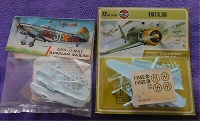 Airfix - Yakolev Yak-9D And Fiat G.50  In 1/72nd Scale • 10£