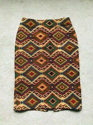 ASOS Multicoloured Pencil Skirt With Pattern Size 6 • 2.99£