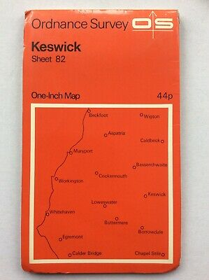 Vintage Ordnance Survey Keswick Map No.82 One Inch • 4.99£