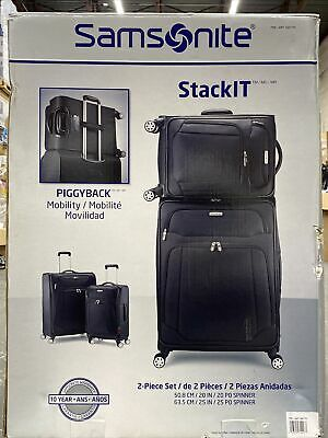 """View Details Samsonite Stack It Luggage Set  Suitcase— Spinner  25"""" & 22"""" Great Condition , • 95.00$"""