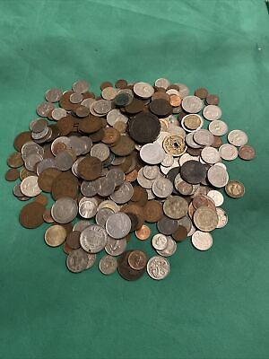 Joblot Unsorted Mixed Foreign Coins &  European/World Current Retired Over 1.7Kg • 6£