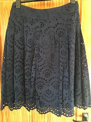 Boden Ladies Navy Skirt Size UK12 Excellent Condition • 3£