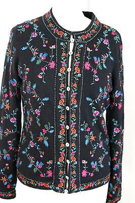 CAROLINE CHARLES Cashmere And Silk Button Front Cardigan Jacket Uk10-12 BC • 29.99£