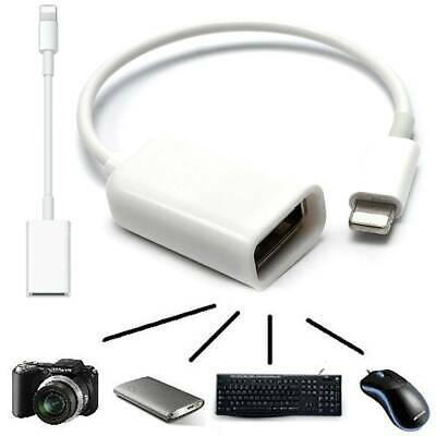 For 8Pin To USB Keyboard Mouse For IPhone IPad4/Mini OTG Camera Adapter Cable • 5.69£