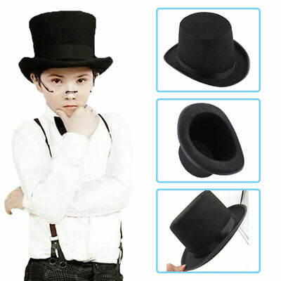 Black Kids Hat Folding Collapsible Top Hat Magic Magician Trick Performer N4Y0 • 3.73£