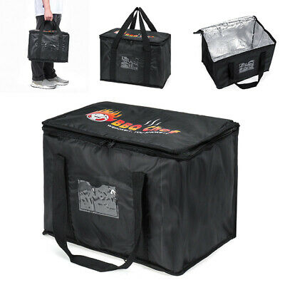 50l Large Food Delivery Insulated Bags Pizza Takeaway Thermal Warm/cold Bag Ruck • 12.85£