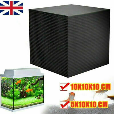 Eco-Aquarium Water Purifier Cube Fish Tank Cleaning Filter Activated Carbon UK • 9.97£