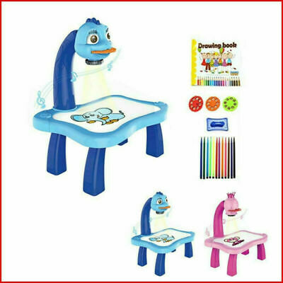 Children Magnetic Plastic Drawing Board Projector Painting Educational Tool Gift • 20.99£