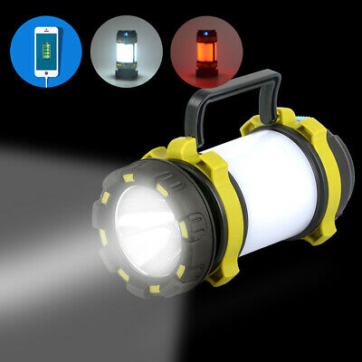 USB Charge Fishing Light Bivvy Torch Camping Lantern Outdoor Tent Night LED Lamp • 12.12£