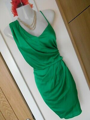 **stunning** River Island Size 10 12 Green Grecian Wiggle Dress *fast Postage** • 20£