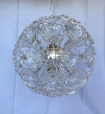 Beautiful Laura Ashley Pendant Sphere Light Polished Chrome With Flowered Glass • 30£