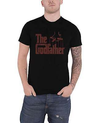 The Godfather T Shirt Movie Logo Brown New Official Mens Black • 12.95£