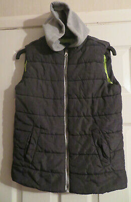EXCELLENT CONDITION Boys Grey Blue Zoo Hooded Padded Gillet/Body Warmer Age11/12 • 6.49£