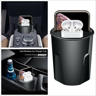 $ CDN44.99 • Buy 10W 4 In 1 Car Qi Wireless Charger Cup With USB Fit For IPhone 11/Pro/Pro Max