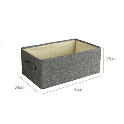 Large Collapsible Fabric Storage Basket Under Bed Bag Box Clothes Organizer Cube • 13.19£